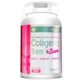 Colágeno 3 em 1 + Zinco 480mg (60 cápsulas)